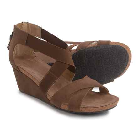 Adrienne Vittadini Timbo Wedge Sandals - Nubuck (For Women) in Wheat - Closeouts
