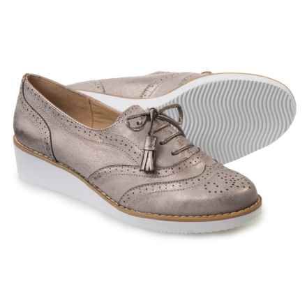 Adrienne Vittadini Trink Oxford Shoes - Leather (For Women) in Taupe - Closeouts