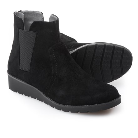 b39e0eb8f7d4 Adrienne Vittadini Trusha Side-Gore Booties - Nubuck (For Women) in Black  Burnished