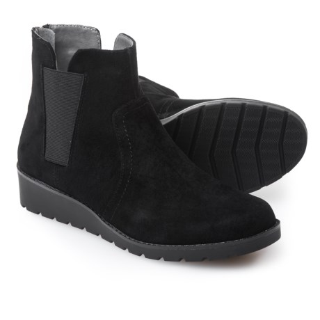 Image of Adrienne Vittadini Trusha Side-Gore Booties - Nubuck (For Women)