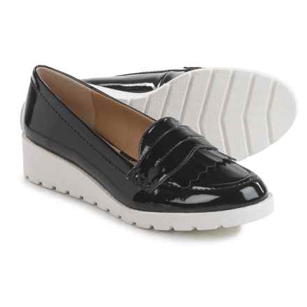 Adrienne Vittadini Tumult Wedge Moccasins (For Women) in Black - Closeouts