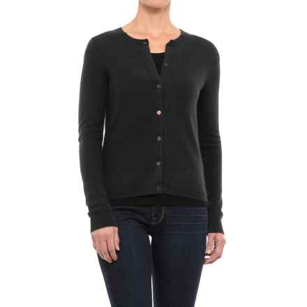 Adrienne Vittadini Vintage Cashmere Cardigan Sweater (For Women) in Black - Closeouts