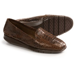 Aerosoles Army Shoes - Slip-Ons (For Women) in Black Snake Print