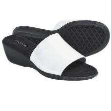 Aerosoles Badminton Slide Sandals - Wedge Heel (For Women) in White Pu - Closeouts