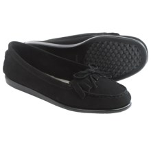 Aerosoles Berlin Moccasins - Suede, Slip-Ons (For Women) in Black Nubuck - Closeouts