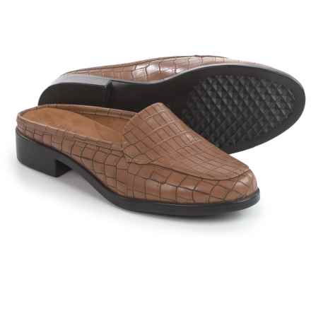 Aerosoles Best Wishes Shoes - Vegan Leather, Slip-Ons (For Women) in Tan Croco - Closeouts