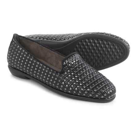 Aerosoles Betunia Flats - Vegan Leather (For Women) in Black Metallic Combo - Closeouts