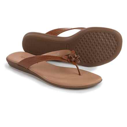 Aerosoles Branchlet Flip-Flops - Vegan Leather (For Women) in Dark Tan Combo - Closeouts