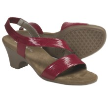 Aerosoles Brasserie Sandals - Ankle Strap (For Women) in Red Lizard - Closeouts