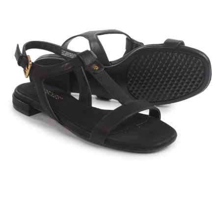 Aerosoles Buckle-Down Sandals - Vegan Leather (For Women) in Black - Closeouts