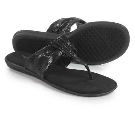 Aerosoles Chlairvoyant Thong Sandals (For Women) in Black Snake - Closeouts