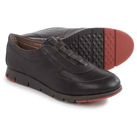 Aerosoles Colorfast Shoes - Leather, Slip-Ons (For Women) in Dark Brown Leather - Closeouts