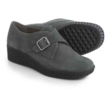 Aerosoles Columbia Wedge Shoes - Nubuck, Slip-Ons (For Women) in Dark Grey Nubuck - Closeouts