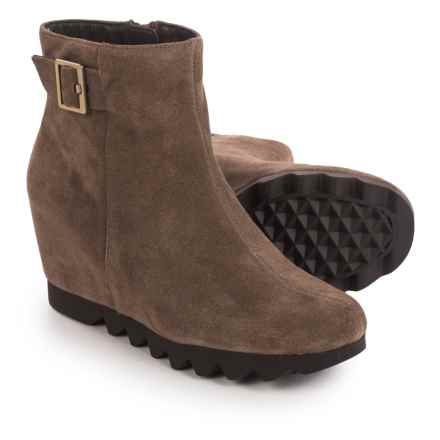 Aerosoles Confidential Wedge Ankle Boots - Suede (For Women) in Mid Brown Suede - Closeouts