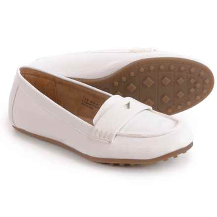 Aerosoles Drive-In Moccasins - Vegan Leather (For Women) in White - Closeouts