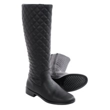 Aerosoles Establish Quilted Riding Boots (For Women) in Black Quilted - Closeouts
