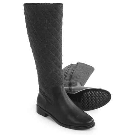 Aerosoles Establish Quilted Riding Boots (For Women) in Grey Wool - Closeouts