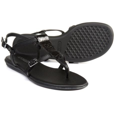 Aerosoles Flat Fashion Sandals (For Women) in Black Snake