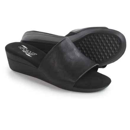 Aerosoles Florida Wedge Sandals - Vegan Leather (For Women) in Black - Closeouts