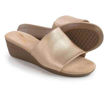 Aerosoles Florida Wedge Sandals - Vegan Leather (For Women) in Gold - Closeouts