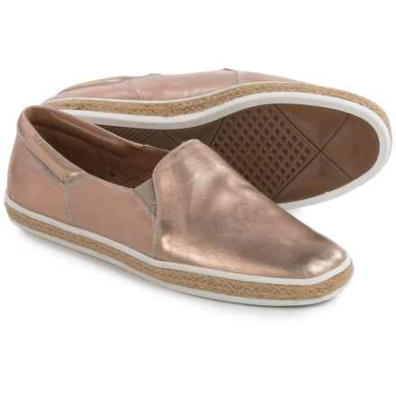 Aerosoles Fun Fact Shoes - Leather, Slip-Ons (For Women) in Bronze - Closeouts