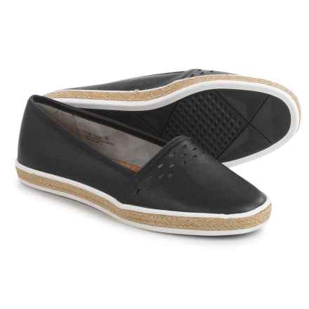 Aerosoles Fun Times Shoes - Leather, Slip-Ons (For Women) in Black Leather - Closeouts