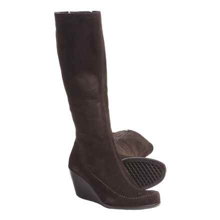 Aerosoles Gather Round Wedge Boots - Suede (For Women) in Brown Suede - Closeouts