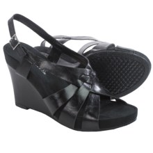 Aerosoles Guava Plush Wedge Sandals - Vegan Leather (For Women) in Black - Closeouts