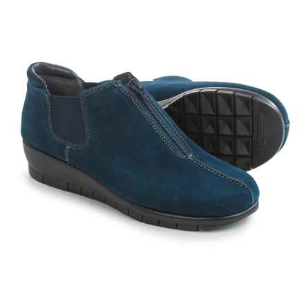 Aerosoles Landfall Shoes - Leather, Slip-Ons (For Women) in Blue Suede - Closeouts