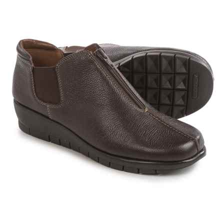 Aerosoles Landfall Shoes - Leather, Slip-Ons (For Women) in Dark Brown - Closeouts