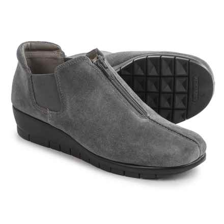 Aerosoles Landfall Shoes - Leather, Slip-Ons (For Women) in Grey Suede - Closeouts
