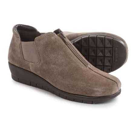 Aerosoles Landfall Shoes - Leather, Slip-Ons (For Women) in Taupe Suede - Closeouts