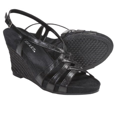 Aerosoles Lemon Plush Wedge Sandals (For Women) in Black Combo