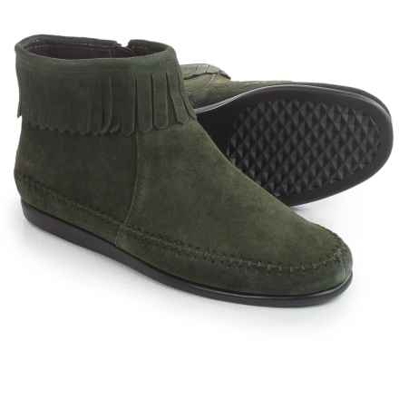 Aerosoles Linbo Ankle Boots - Suede (For Women) in Mid Green Suede - Closeouts