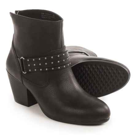 Aerosoles Longevity Ankle Boots - Vegan Leather (For Women) in Black - Closeouts