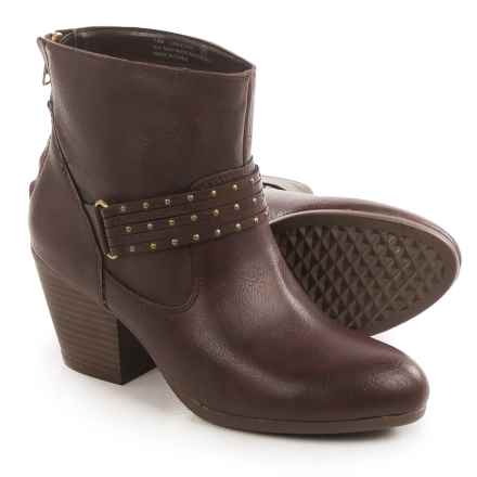Aerosoles Longevity Ankle Boots - Vegan Leather (For Women) in Brown - Closeouts