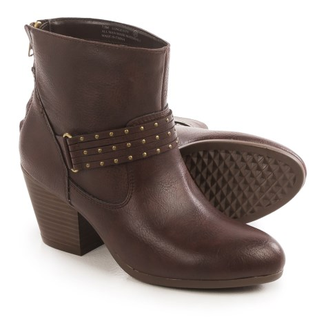 Aerosoles Longevity Ankle Boots - Vegan Leather (For Women) in Brown