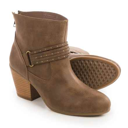 Aerosoles Longevity Ankle Boots - Vegan Leather (For Women) in Taupe - Closeouts