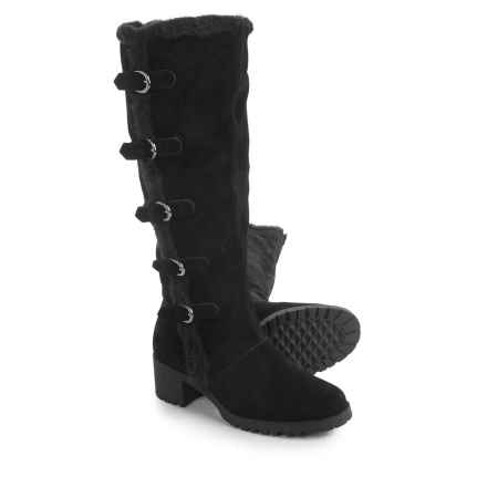 Aerosoles Nesst Egg Knee-High Boots - Suede (For Women) in Black Suede - Closeouts