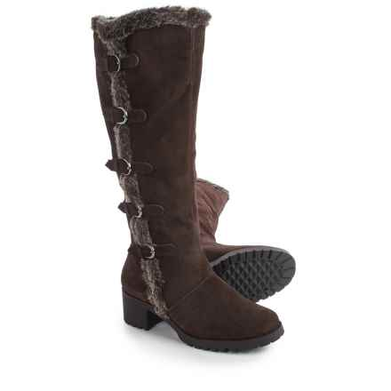 Aerosoles Nesst Egg Knee-High Boots - Suede (For Women) in Dark Brown Suede - Closeouts