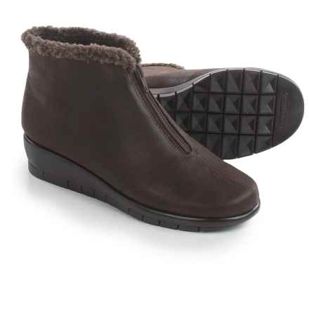 Aerosoles Nonchalant Ankle Boots - Vegan Leather (For Women) in Brown Fabric - Closeouts