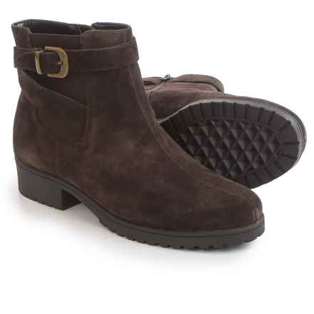 Aerosoles Notebook Ankle Boots - Leather (For Women) in Dark Brown Suede - Closeouts