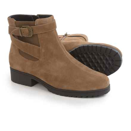 Aerosoles Notebook Ankle Boots - Leather (For Women) in Taupe Suede - Closeouts