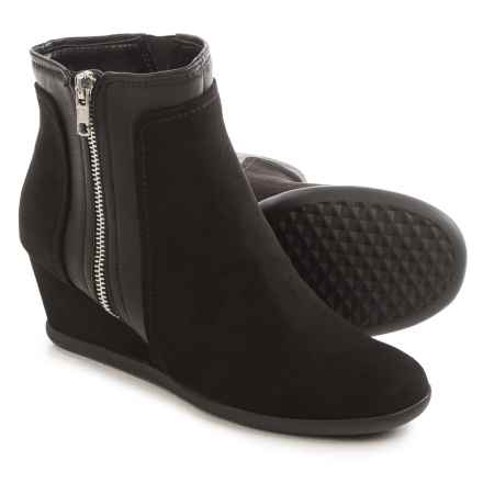 Aerosoles Outfit Boots - Vegan Leather (For Women) in Black Combo - Closeouts