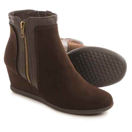 Aerosoles Outfit Boots - Vegan Leather (For Women) in Dark Brown - Closeouts