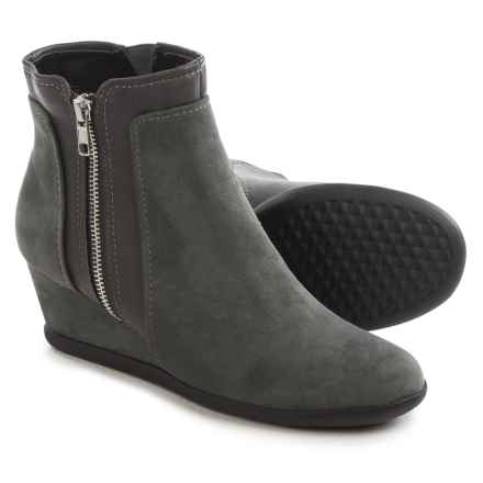 Aerosoles Outfit Boots - Vegan Leather (For Women) in Grey Combo - Closeouts