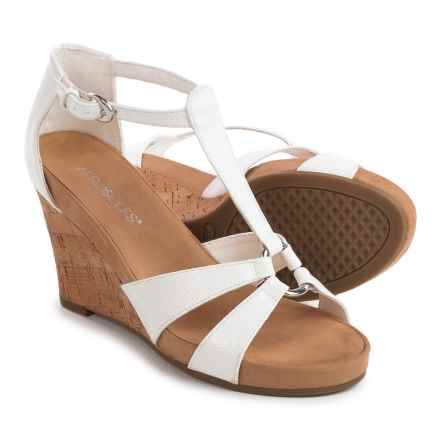 Aerosoles Plush Ahead Wedge Sandals - Vegan Leather (For Women) in White - Closeouts