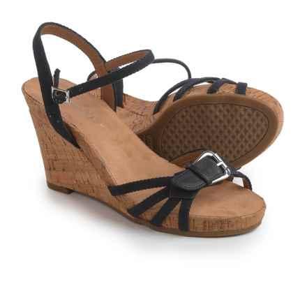 Aerosoles Plush Around Wedge Sandals (For Women) in Black Fabric - Closeouts