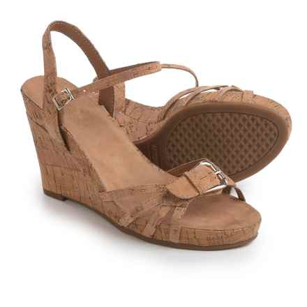 Aerosoles Plush Around Wedge Sandals (For Women) in Tan Fabric - Closeouts