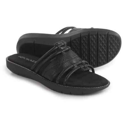 Aerosoles Super Cool Sandals - Vegan Leather (For Women) in Black - Closeouts
